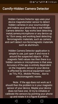 Camify-Hidden Camera Detector screenshot 5