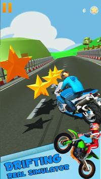 Thumb Moto Racing Drift apk screenshot
