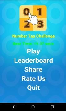 Number Tap Challenge poster