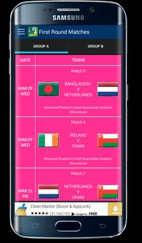 T20 World Cup 2016 Fixtures apk screenshot