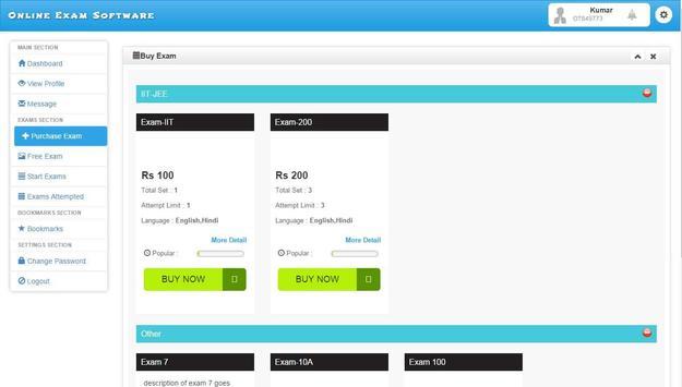 Online Exam Software screenshot 2