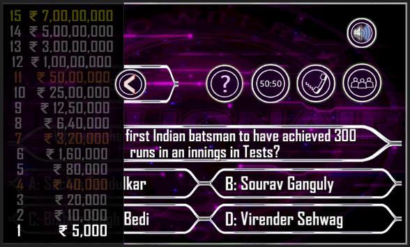 KBC 2015 : Play KBC Quiz apk screenshot