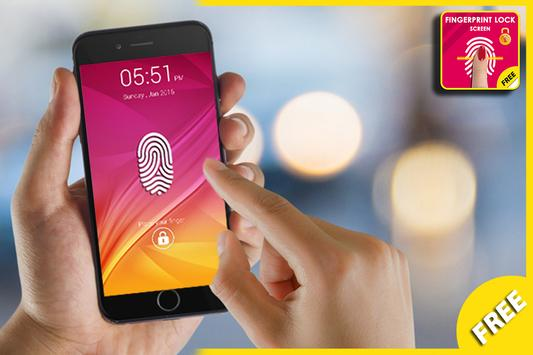 FingerPrint Lock Screen Prank poster