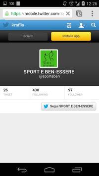 Sport&ben-essere screenshot 2