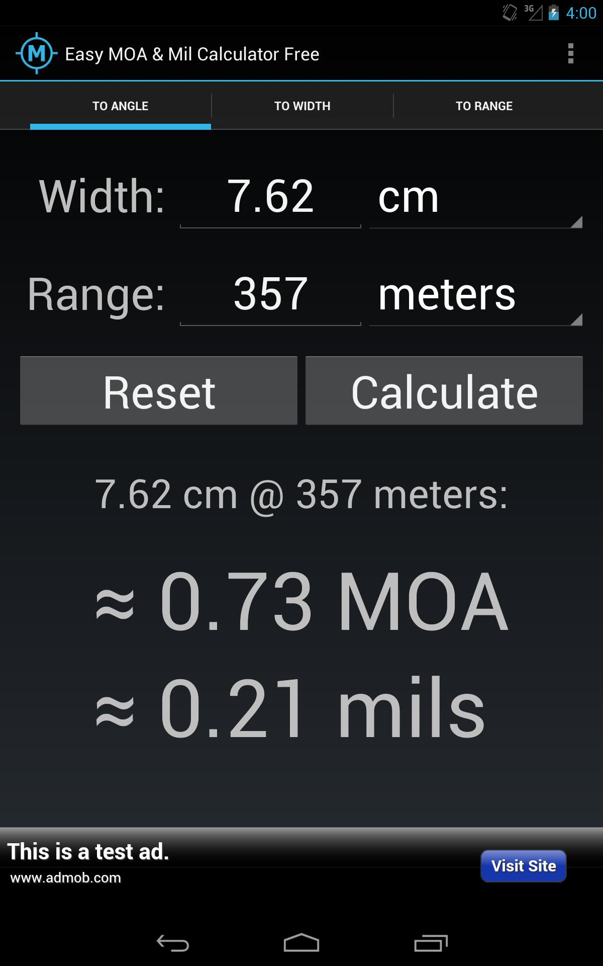 Easy MOA & Mil Calculator Free for Android - APK Download