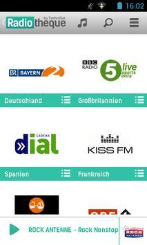 Radiotheque apk screenshot