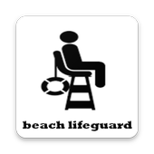 Beach lifeguard icon