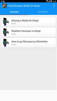 Final Dinosaur Mods for Mcpe poster