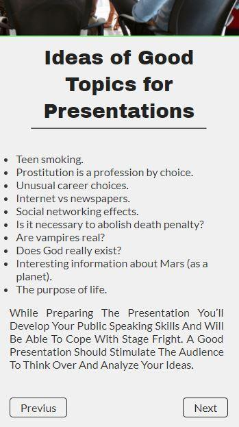Presentation Slides On Any Topic