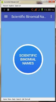 Scientific Binomial Names poster