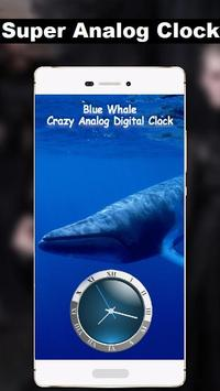 Blue Whale Super Animated Digital Analog Clock App for