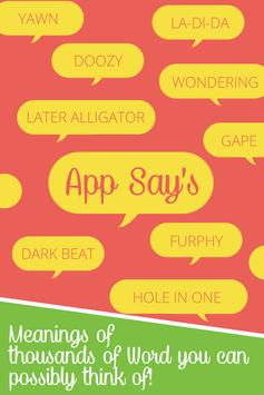 App Say's poster