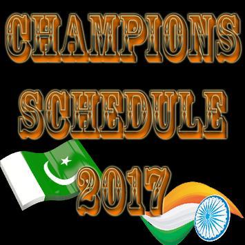 Champion Schedule 2017 poster