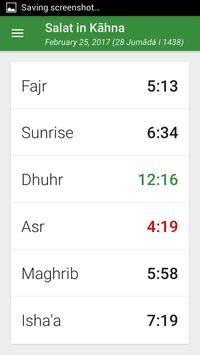 Prayer times and Qibla screenshot 1