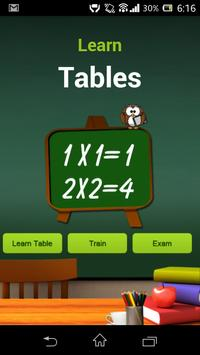 Learn Tables poster