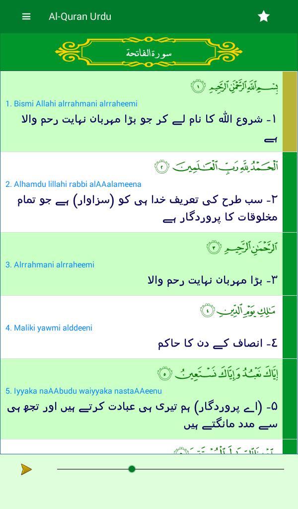 Quran Pak with Urdu translation,free offline audio for