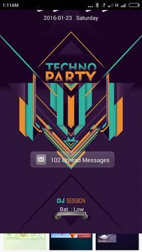 Techno Party Go locker theme apk screenshot