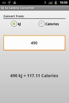 kJ to Calories apk screenshot