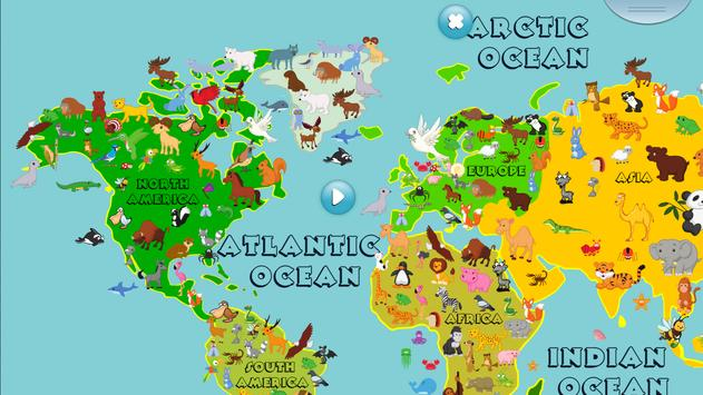 Animal world map 6 12 years apk download free educational game animal world map 6 12 years poster gumiabroncs Images