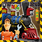 Train Engine Factory: Builder & Maker Game icon