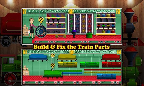Train Engine Factory: Builder & Maker Game poster