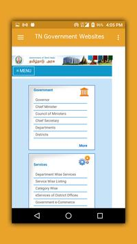 Tamilnadu Government Websites apk screenshot