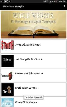 Bible Verses by Topics apk screenshot