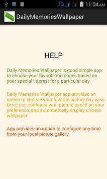 DailyMemoriesWallpaper apk screenshot