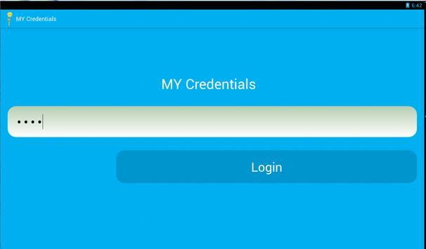 My Credentials apk screenshot