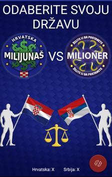Milijunaš VS Milioner poster