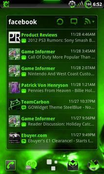 GOWidget Theme PoisnGreen-Free screenshot 2