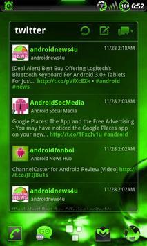 GOWidget Theme PoisnGreen-Free screenshot 3