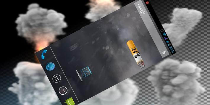 Cigarette Battery Widget apk screenshot