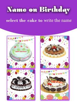 viết tên lên bánh sinh nhật poster
