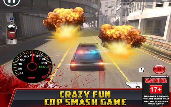 Cop Car Crash Racing CSR Chase screenshot 4