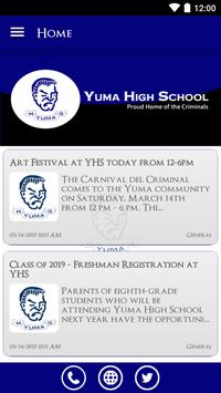 Yuma High School poster
