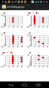 ギター初心者の書 コード表付き、練習方法【無料】 apk screenshot