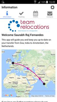 Team Relocations Tracking poster
