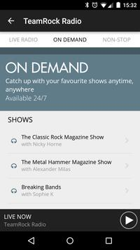 TeamRock Radio screenshot 1