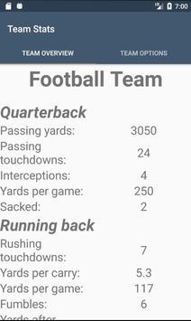 Team Stats apk screenshot