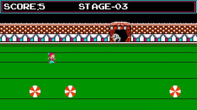 Circus Charlie captura de pantalla 4