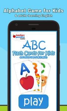 ABC Flash Cards Game for Kids & Adults poster