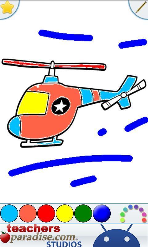 Aviones Libro para Colorear Descarga APK - Gratis Educativos Juego ...