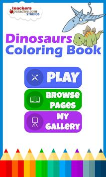 Dinosaurs Coloring Book poster