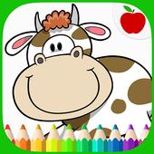 Farm Animals Coloring Book icon