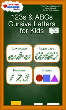 ABC Cursive Writing for Kids & Adults - ZBC 🍎 poster