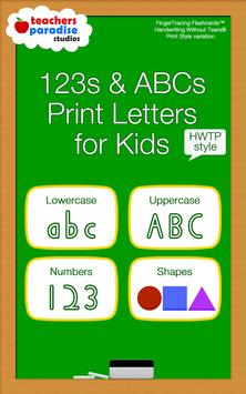 123 ABC Kids Handwriting HWTP apk screenshot