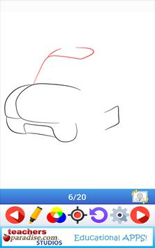 Learn How to Draw Cartoon Cars apk screenshot