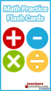 Math Practice Flash Cards poster
