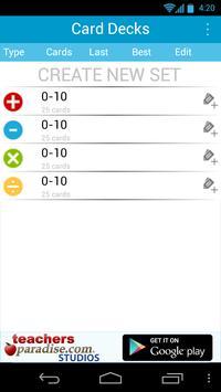 Math Practice Flash Cards screenshot 1